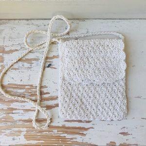 Lord & Taylor crochet boho cross body